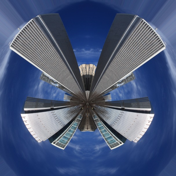 chicago skyscrapers polarized
