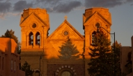 Evening shadows on St. Francis of Assisi Basilica