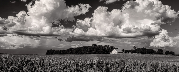 Illinois Sky BW Panorama-1